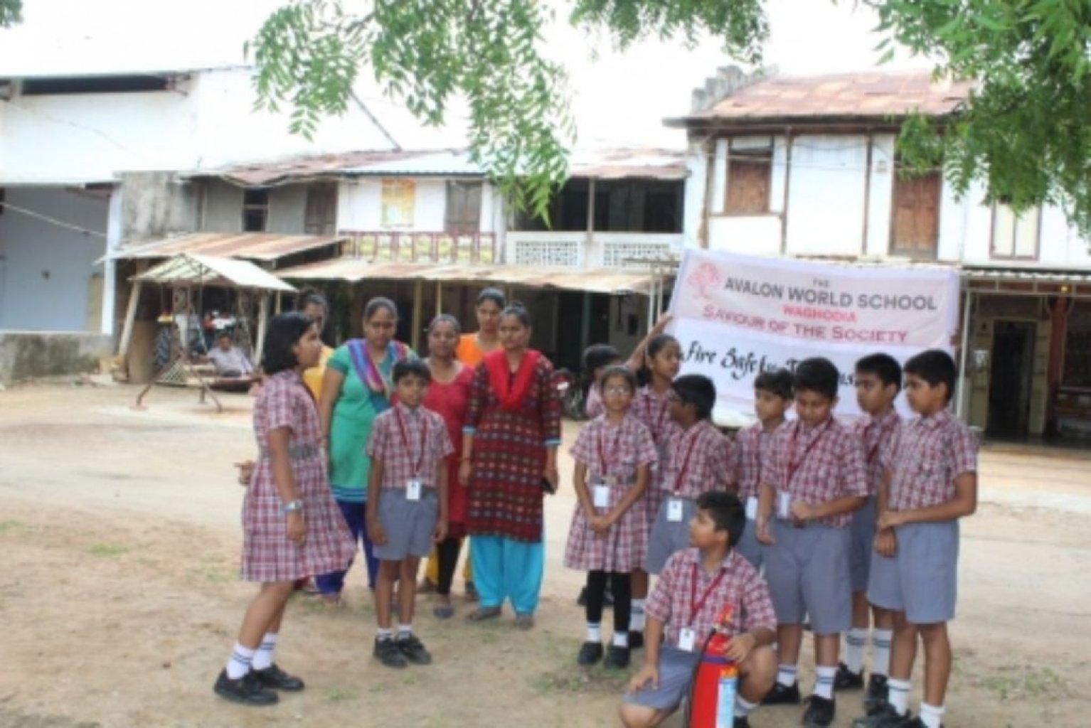 Fire Safety Demonstration At Kherwadi Village