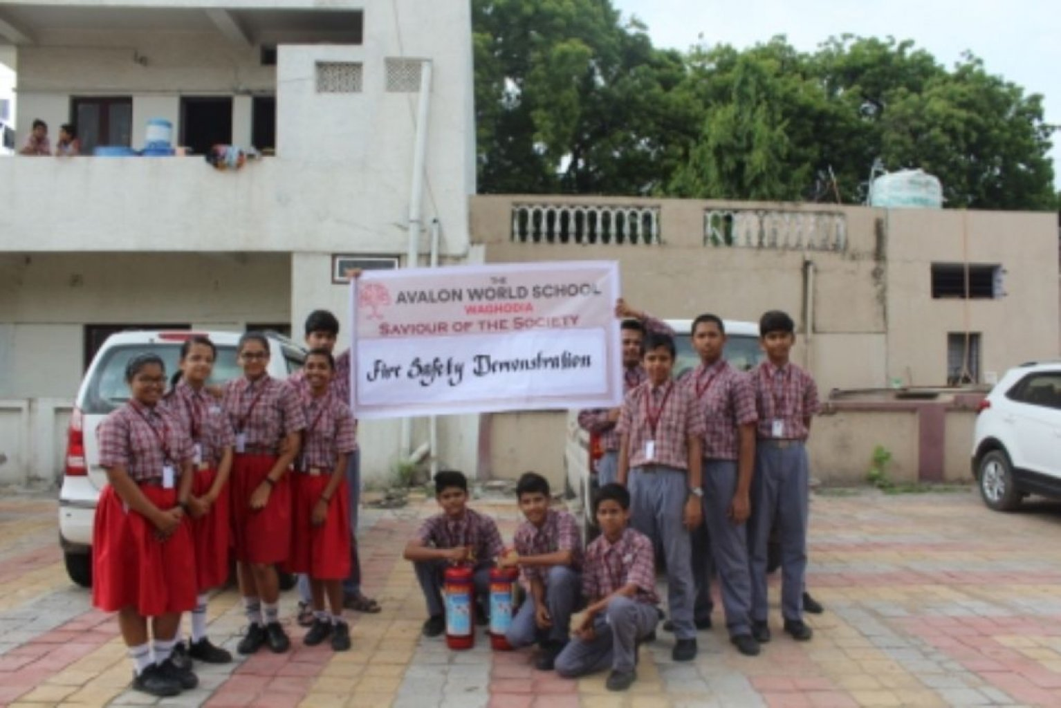 Fire Safety Demonstration At Shram Sadhna Society View Photos